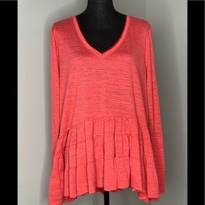 NWT Anthropologie Deletta Peplum Top Sz Large